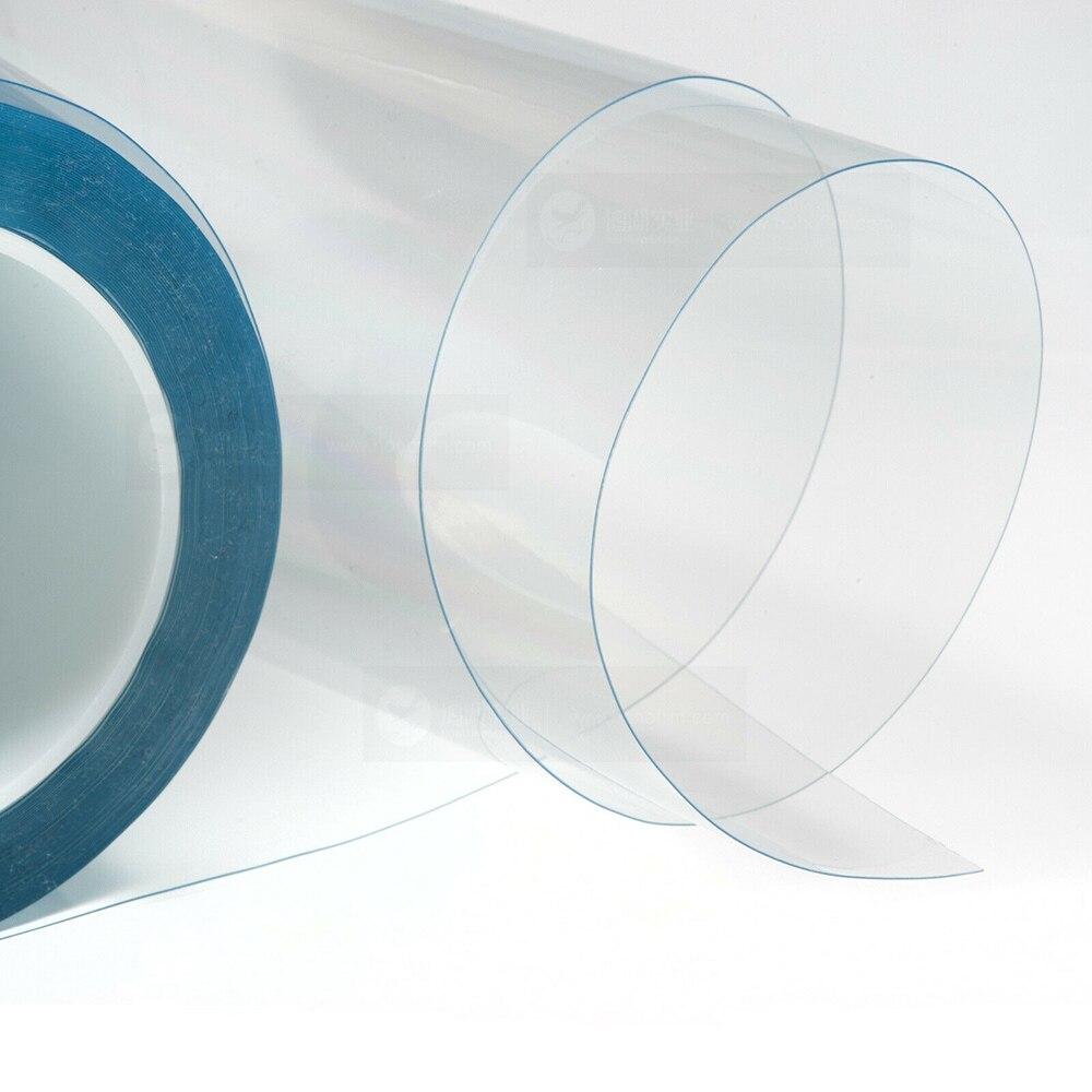 SUNICE Film de protection meubles bureau table réparable auto-adhésif anti-rayures 100% Transparent 50 cm X 600 cm voiture SUNICE