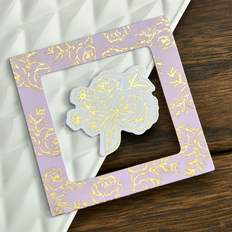 KLJUYP 32pcs Sweet Photo Love Flowers Frames Cardstock Die Cut for ...