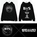 KPOP BTS roupas BTS placas juventude concerto oficialmente em torno do mesmo parágrafo Com Capuz Camisolas grossas