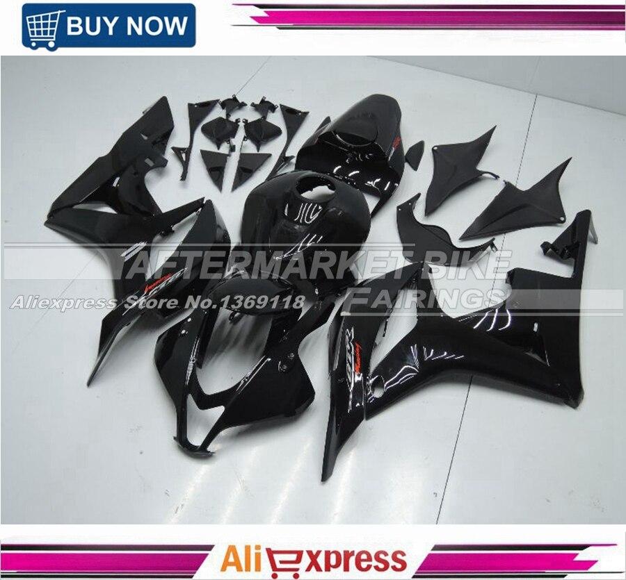 CBR600RR 07 08 Обтекатели F5 2007 2008 обтекатель комплект полная впрыска ABS мотоцикл обтекатель комплект тела глянец Черный