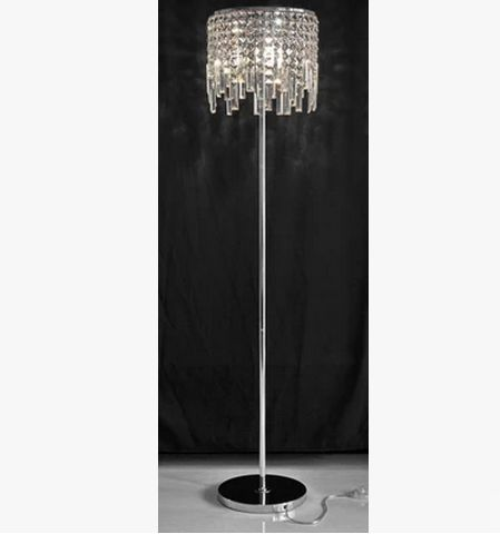 Luxury K9 Crystal Floor Lamps Light Bedside Crystal Lamp Stand Lights  Bedroom Modern Living Room Floor