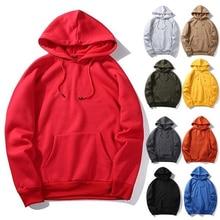 Solid Hoodie Coat For Men Casual Hip Hop Street Wear Male Sweatshirts Skateboard 2019 Autumn Winter Fleece Sportsuit Tracksuit