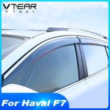 Vtear Voor Haval F7 F7X Window Visor Auto Regenkap Deflectors Luifel Trim Cover Exterieur Auto Styling Accessoires Onderdelen 2019