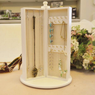 Wood Accessories Jewelry Holder Princess Fashion Rotating
