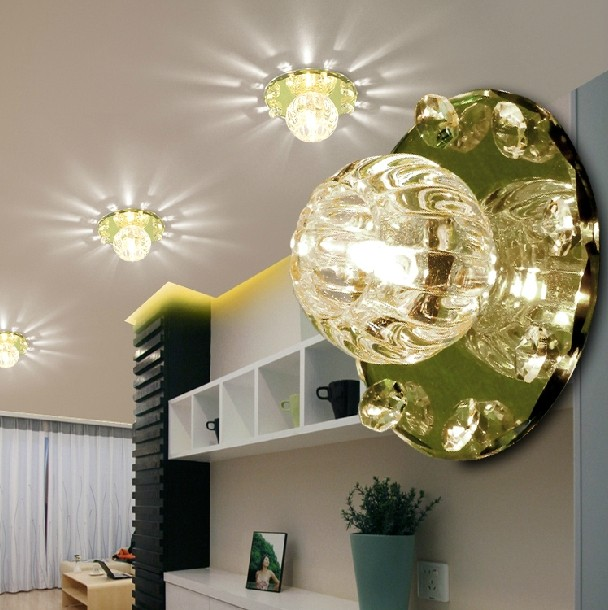 Colorpai 3w crystal chandelier modern led ceiling hallway lighting white /warm white living room light AC220-240V light fixtures modern crystal chandelier led hanging lighting european style glass chandeliers light for living dining room restaurant decor