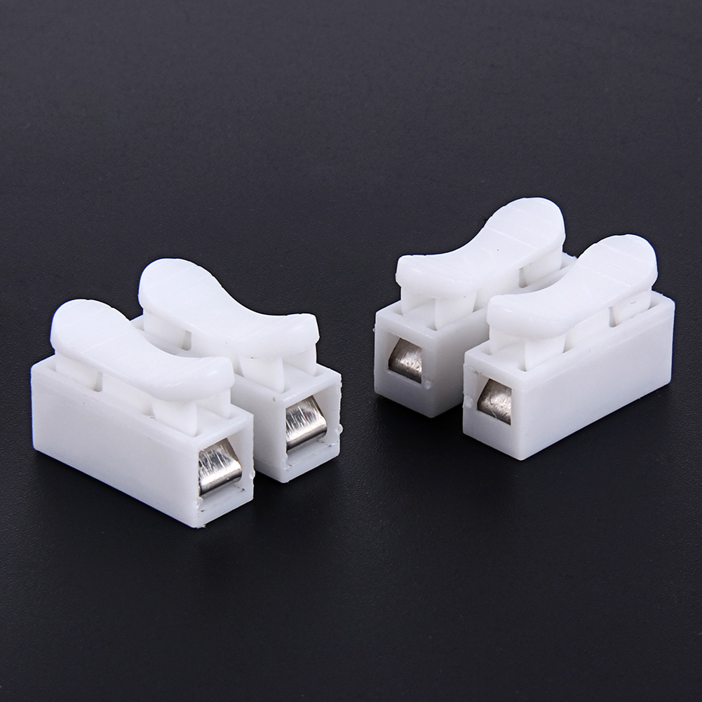 50pcs/lot 250V 10A Push Block Wire Connector 2P Butt Joint Terminal Blocks Connector Electric Connection