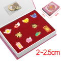 2016 Anime Card Captor Sakura Necklace Keychain 10pcs Set Metal Alloy Pendant Chain Keyrings in Pretty Gift Box