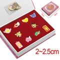 2016 Anime Card Captor Sakura Necklace Keychain 10pcs Set Metal Alloy Pendant Chain Keyrings in Pretty Gift Box