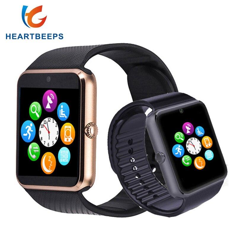 GT08 Bluetooth Smart Uhr Unterstützung TF SIM karte mit Passometer Kamera Anruf Smartwatch Für IOS Android Telefon pk DZ09