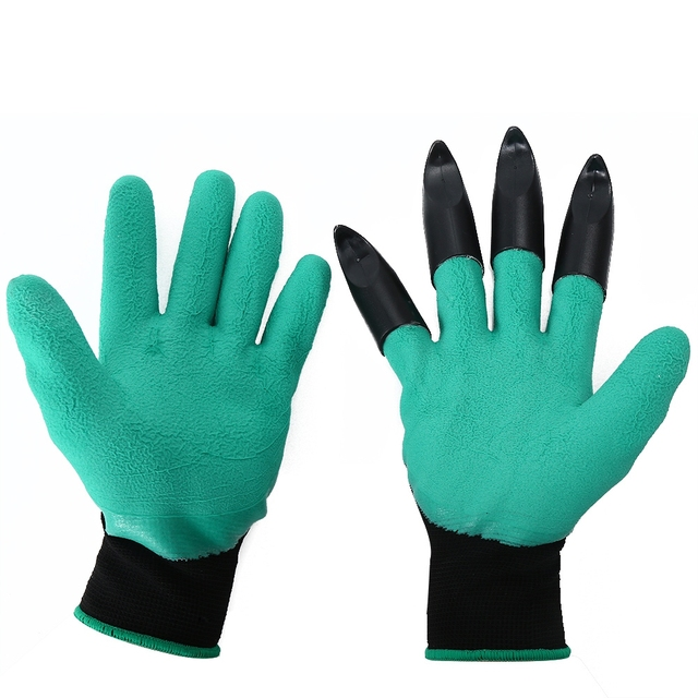 Soil flip man woman protection hand garden tools supplies products 2 pair/lot rubber garden gloves safety gardening gloves