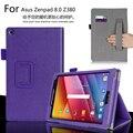 Para ASUS Zenpad 8.0 Z380 Z380C Z380KL 8.0 pulgadas Tablet lujo cartera de tarjeta de cuero correa de mano funda tapa