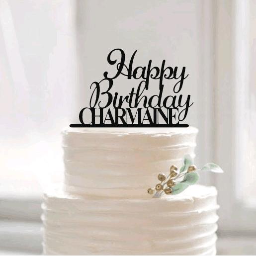 Awesome Happy Birthday Cake Topper For Kid Personalized Birthday Cake Personalised Birthday Cards Veneteletsinfo