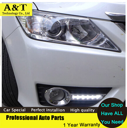 car styling 2012-2014 for Toyota Camry led Daytime Running Light led Fog light High Quality Camry LED DRL ! new car styling led rear lights kit modification for toyota camry 7th 2012 2013 2014 turning light high quality free shipping