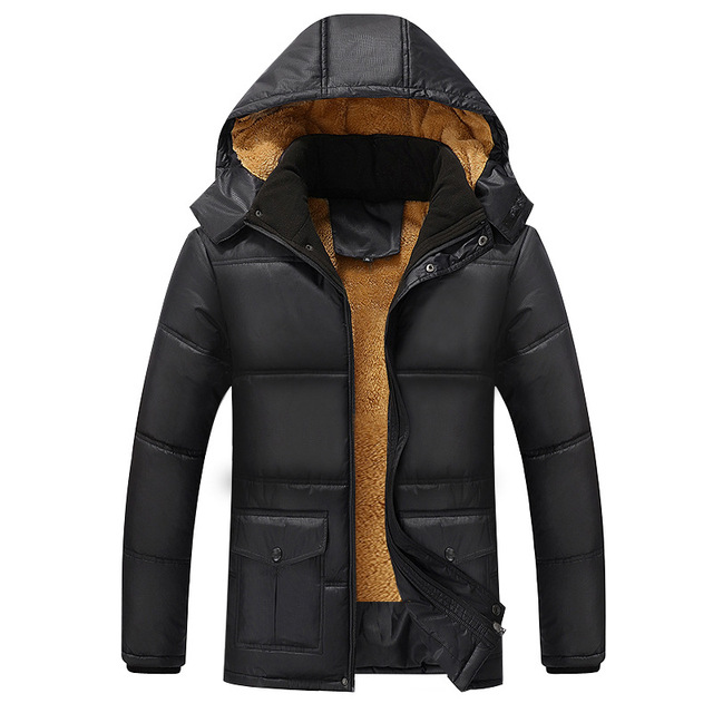 winter coat men 2016 Winter Thick Parkas Casual Warm Cotton Liner Middle-Long Jackets Hooded High Quality Cotton-Padded Y111