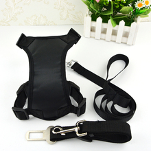 Global Baby Nylon Soft Car Safety Belt Dog Leashes and  Pet Harness Three-piece Sets