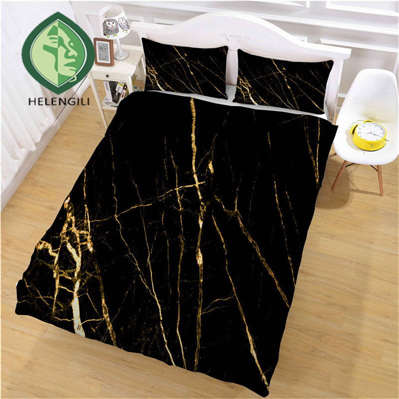 HELENGILI 3D Bedding Set Marble Print Duvet Cover Set Bedclothes with Pillowcase Bed Set Home Textiles #DLS-16HELENGILI 3D Bedding Set Marble Print Duvet Cover Set Bedclothes with Pillowcase Bed Set Home Textiles #DLS-16