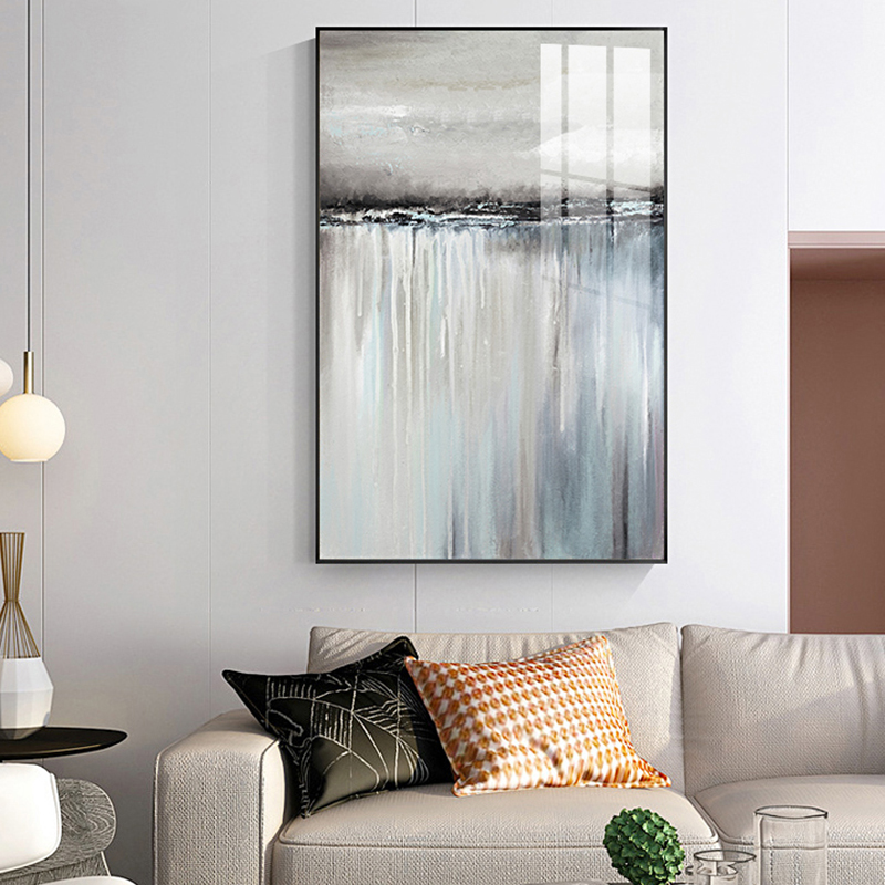 Minimalist Abstract Gray Sailboat Reflection Poster Print Canvas Painting Picture Living Room Home Nordic Decorative Stickers