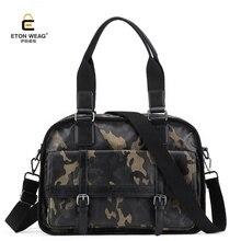 ETONWEAG Men's Travel Bags Waterproof Suitcase Duffel Bag Large Capacity Luggage Durable Microfiber Synthetic Leather Handbags