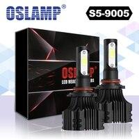 2 قطع oslamp s5 9005 واحدة الشعاع led السيارات العلوي لمبات رقائق cob 8000lm/مجموعة 6500 كيلو السيارات كشافات ضباب ضوء dc 12 فولت 24 فولت