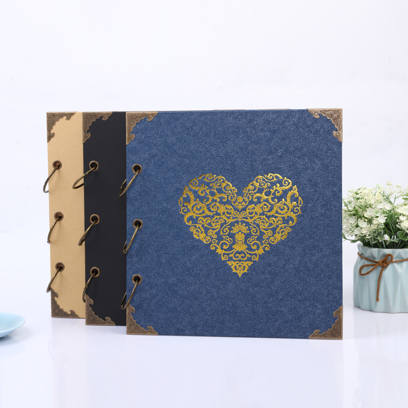 DIY Scrapbook Photo Album Valentines Day Gifts Wedding Guest Book Craft Paper Wedding Anniversary Travel Memory