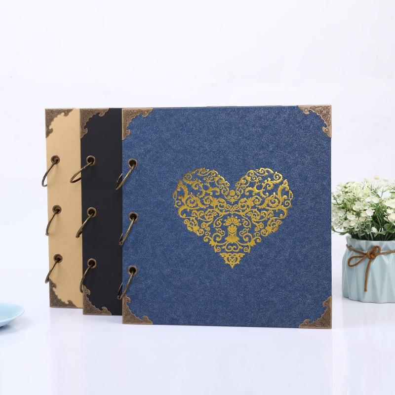 DIY Scrapbook Fotoalbum Valentijnsdag Geschenken Bruiloft Gastenboek Ambachtelijke Papier Bruiloft Anniversary Reizen Geheugen Album Boek-in Fotoalbum van Huis & Tuin op  Groep 1