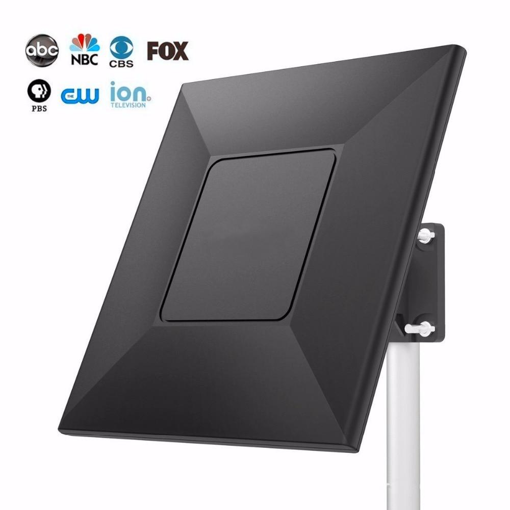 Outdoor TV Antenna High Gain Digital HDTV Antenna 500 Miles Indoor TV Antenna Signal Reception Amplifier Booster Radio TV Aerial