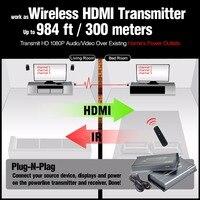 MiraBox Беспроводной ИК HDMI удлинитель Поддержка powerline 200 м телефонной линии 300 м powerline Беспроводной Extender hdmi Беспроводной rx tx