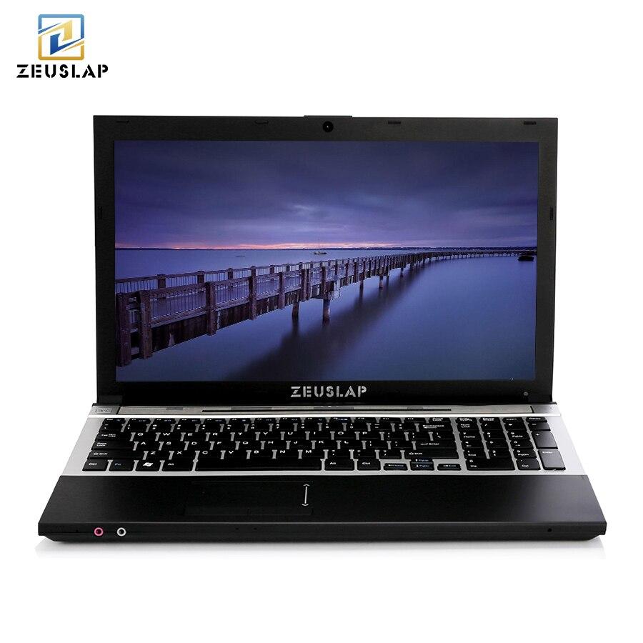 15.6 pollici 8g RAM 1 tb HDD Intel Quad Core Finestre 7/10 Sistema di Notebook per la scuola, ufficio o Computer di casa computer portatile con DVD ROM