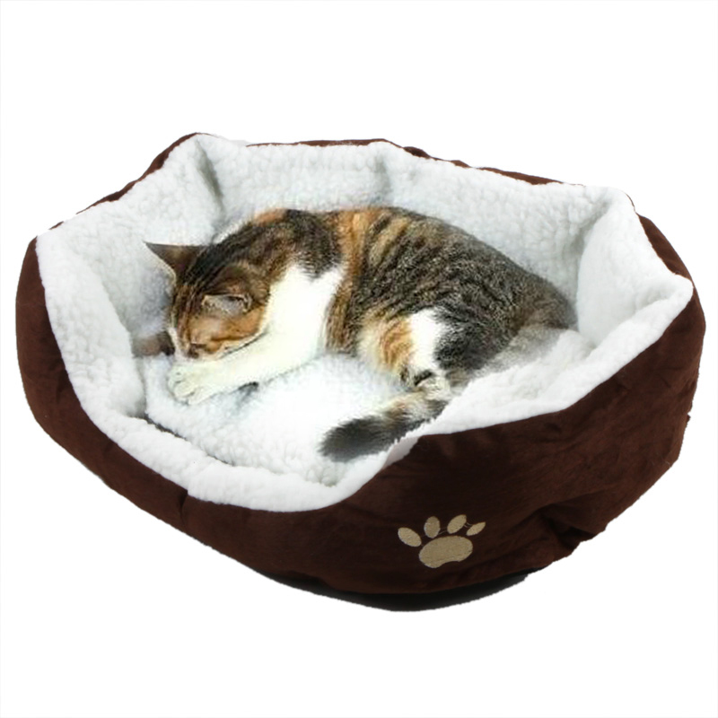 Cute Soft Winter Cat Bed Mini House For Cat Pet Dog Sofa
