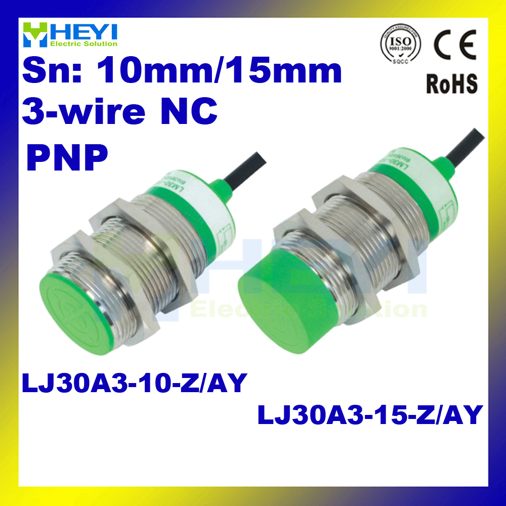 hight resolution of inductive proximity sensor lj30a3 15 z ay pnp dc 3 wire nc proximity switch