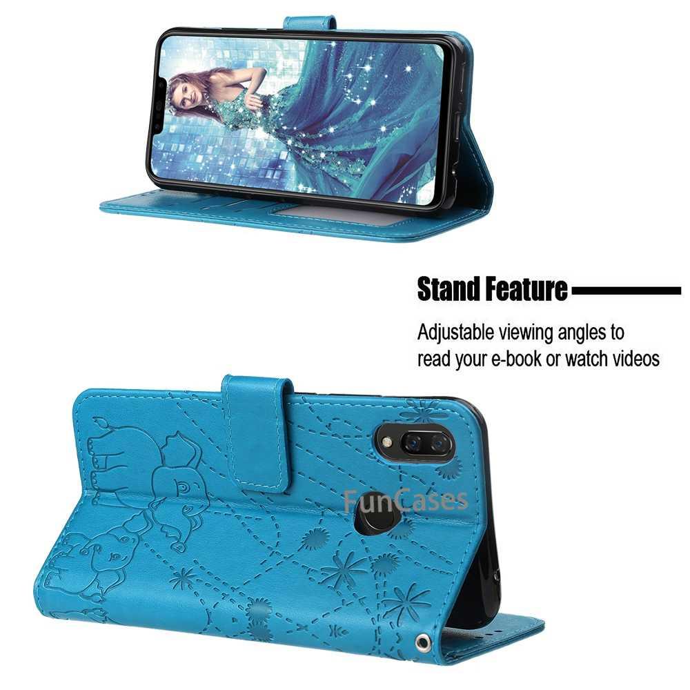Huawei 社 1080p スマートプラス 6.3 インチケース Huawei 社ノヴァ 3i カバー財布革ケース Fundas ため PSmart プラスノヴァ 3 私は Hoesje