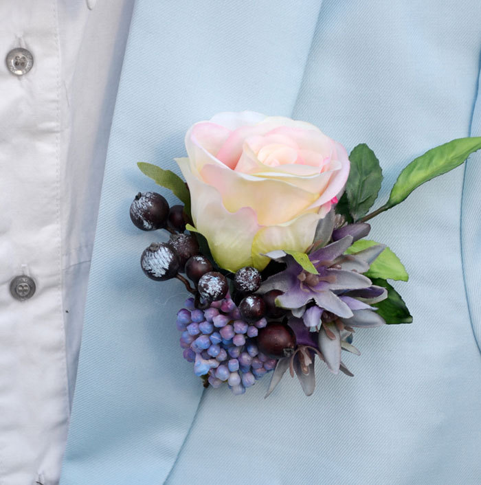 5pcs Lot Handmade Groom Groomsman Boutonniere Artificial Rose Wedding Best Man Corsage Flower Party Prom Suit Pin Brooch In Dried Flowers