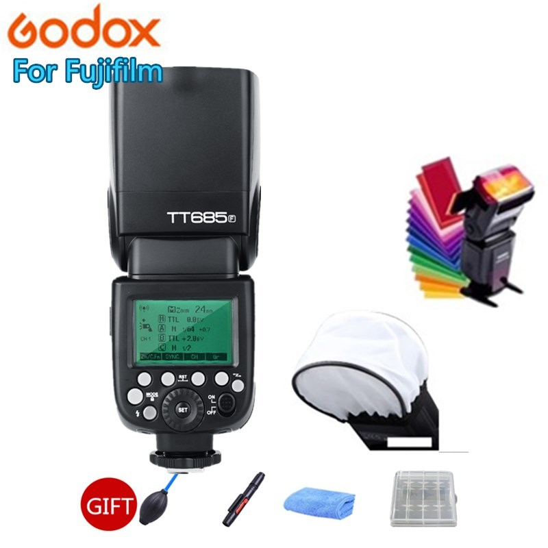 цены Godox TT685 TT685F 2.4G Wireless HSS 1/8000s TTL Flash Speedlite for Fujifilm X-Pro2 X-Pro1 X-T10 X-T20 X-T2 X-T1 X100F X100