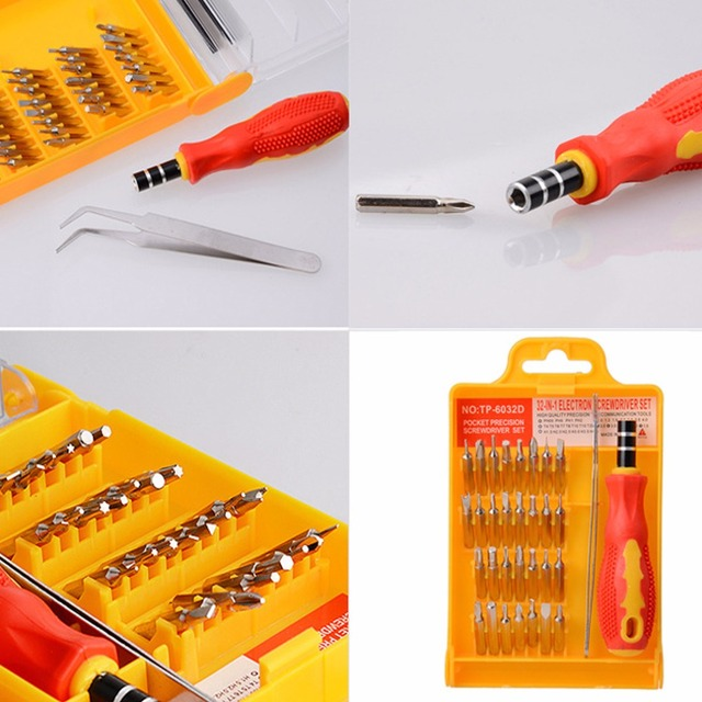 32 in 1 Precision Hardware Screwdriver Kit Screw Driver Tool Sets Portable Stock Offer for Tablets and Mobile Phones Laptops Hand Tools