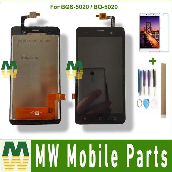 Pour BQ BQ-5020 Grève SE BQS-5020 Grève BQ5020 BQS5020 BQS 5020 LCD Affichage à L'écran Tactile Assemblée Capteur Noir Couleur avec kit