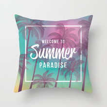 Fuwatacchi Tropical Decoration Cushion Cover Summer Cactus Pineapple Flower Throw Pillow Sofa Home Decorative Pillowcase New цены