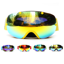 цена на Winter Ski Goggles Dual Lens Uv400 Anti-Fog Snowboard Goggles Spherical Men Women Snow Skating Skiing Sports Goggle Detachable