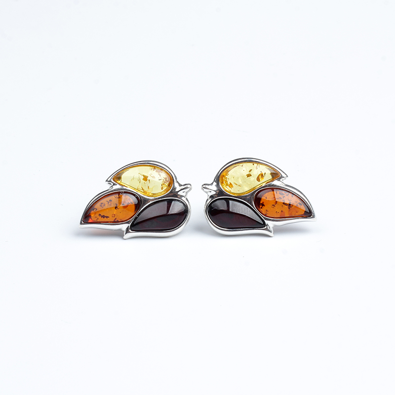 JIUDUO Genuine natural amber 925 sterling silver earrings drop earrings for women design factory direct special package mail jiuduo fashion natural baltic amber beeswax female necklace pendant 925 silver design factory direct special package mail