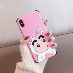 Luxury Brand Case for iPhone X Case iPhone XR XS MAX 6 S 7 8 Plus Cartoon Crayon Shin Chan Japan Soft Silicon Cover Phone Coque 5