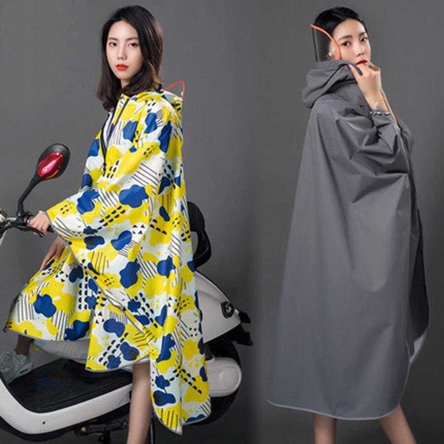 Adulte Taille Longues Femmes Imperméable Couverture Extérieure Imperméable Combinaison De Pluie Manteau Coupe-Vent Poncho Pluie Vitesse Abrigo Mujer Camp LZO203