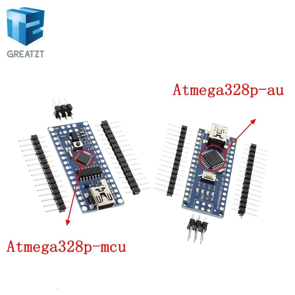 GREATZT 2pcs/lot Nano 3.0 controller compatible for <font><b>arduino</b></font> nano CH340 USB driver NO CABLE