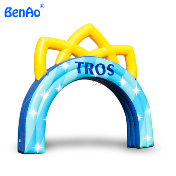R080  20ft Finsh line big archway for race events Inflatable arch inflatable entrance arch gate arch door for outdoor activity