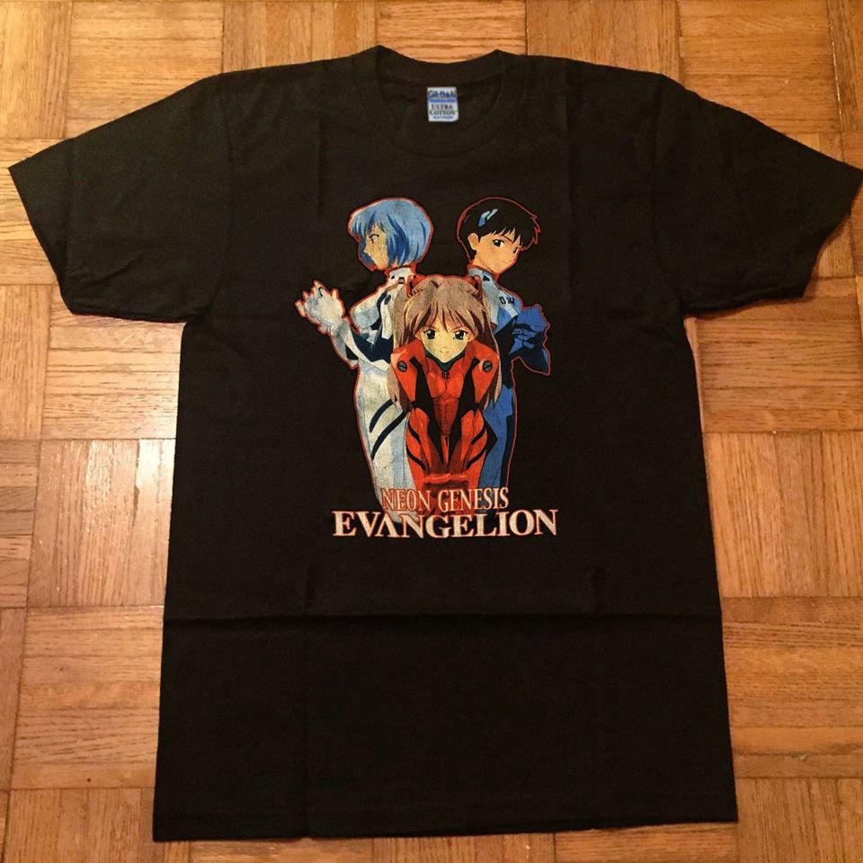 Vintage Rare 1990's Neon Genesis Evangelion Anime japan T Shirt New Popular