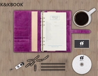 KKBook A5 B5 Luxury Genuine Oil Wax Leather Business Strap Notebook Spiral Loose Leaf Planner Organized