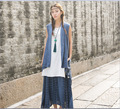 Summer women's sleeveless casual vests Cotton linen vintage cardigan for female large size clothes 86037A