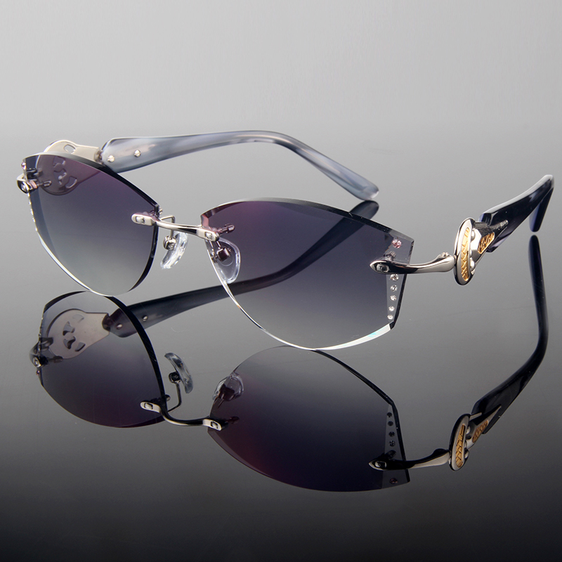Rimless Glasses With Rhinestones : Aliexpress.com : Buy 2015 Summer style trimming cut ...