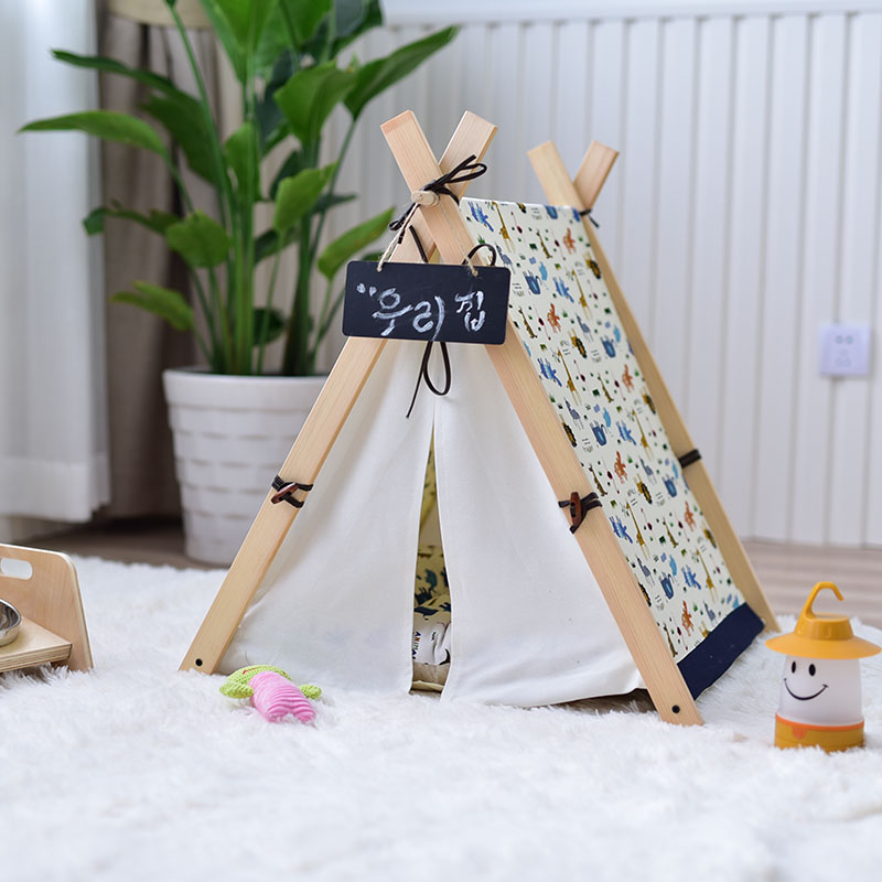 Dog Teepee House Bed yellow chevron pet teepee dog bed house teepee for dogs rabbit teepee