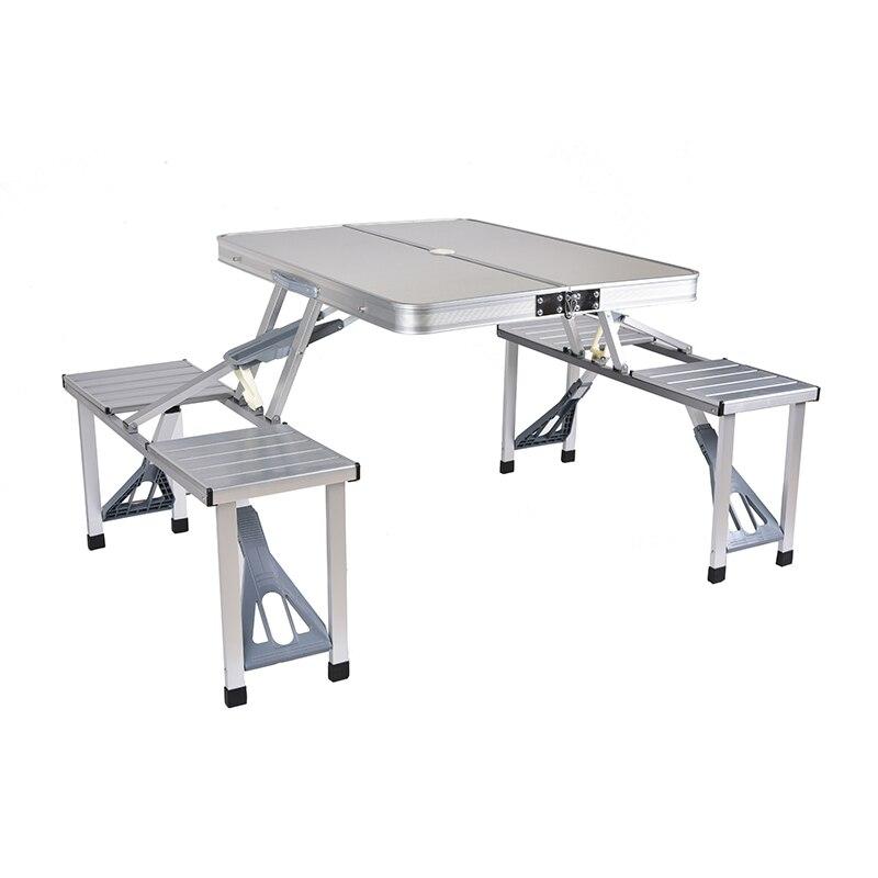 Table Pliante extérieure Chaise de Camping En Alliage D'aluminium Table de Pique-Nique Imperméable À L'eau Ultra-léger Durable Table Pliante Bureau Pour