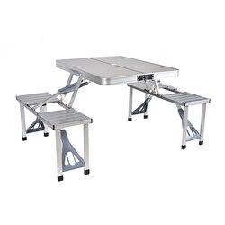 Mesa plegable al aire libre Silla de Camping de aleación de aluminio mesa de Picnic impermeable ultraligera duradera mesa de escritorio plegable para