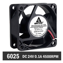 1 Piece DC 24V 60mm x 60 mmx25mm 6025s 2Pin PC CPU Cooler Computer Case Cooling Fan promotion hot 92mm x 25mm 24v 2pin sleeve bearing cooling fan for pc case cpu cooler